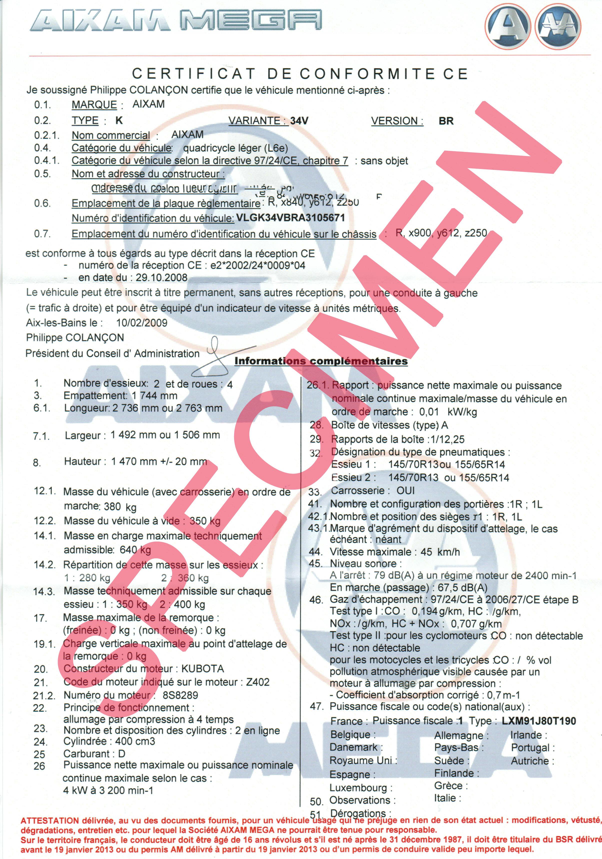 certificat jaugeage fluviale commerce belge